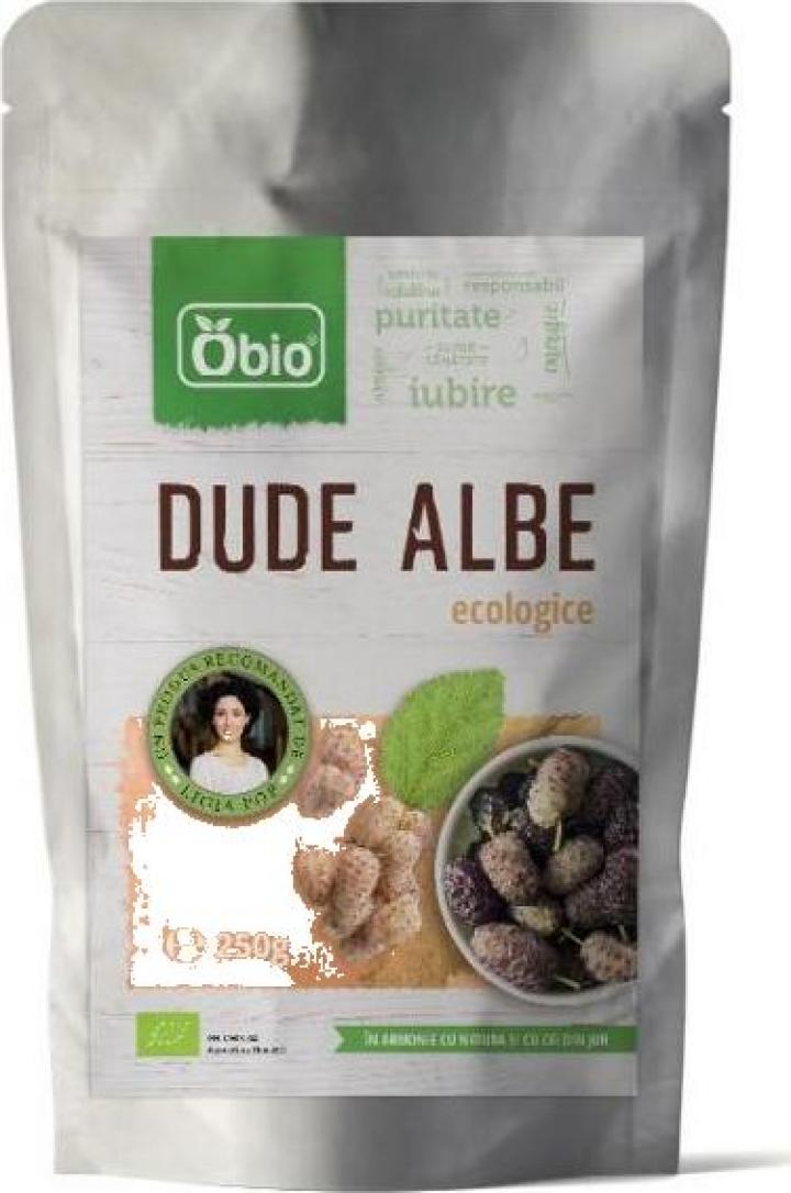 Dude albe, deshidratate, organice - raw, Obio, 250g