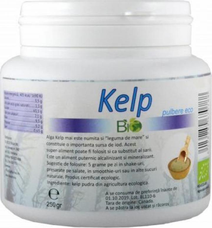 Pulbere Kelp, bio 250g