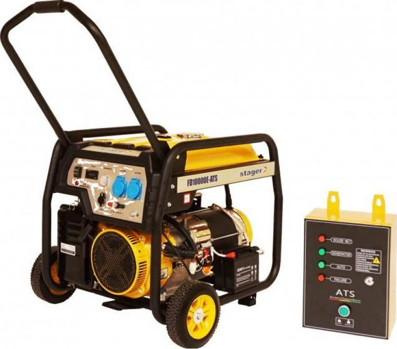 Generator open-frame 8kW, Stager FD 10000E+380V ATS