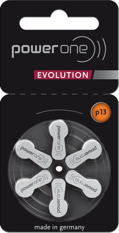 Baterii pentru aparate auditive Power One P13 Evolution PR48