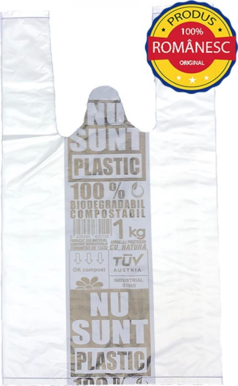 Sacose biodegradabile 1 kg, 100 buc/set, 10 set/bax