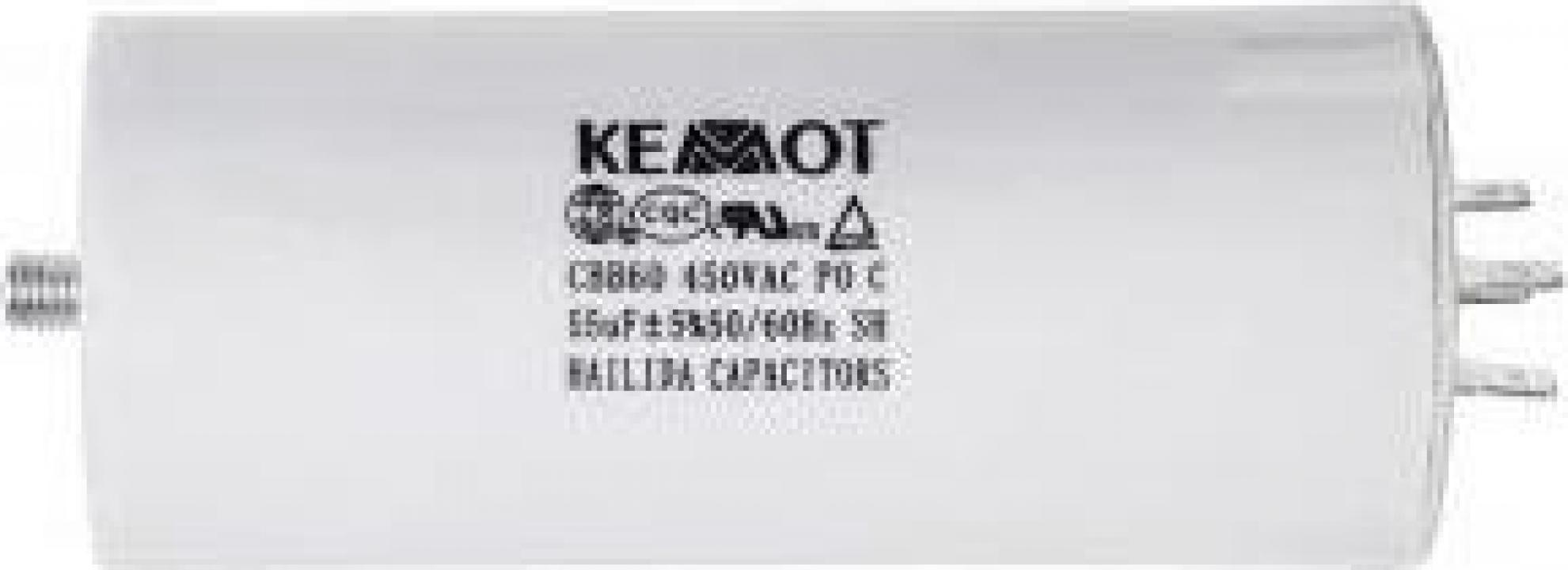 Condensator motor Kemot 100 uF, 450V, cu surub
