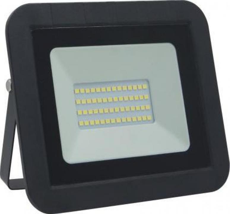 Proiector LED 30W 2400lm IP65 6500K negru Well